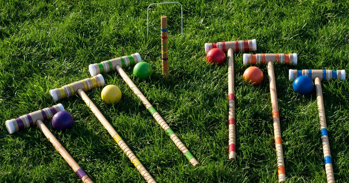 Juego Croquet para el Jardín