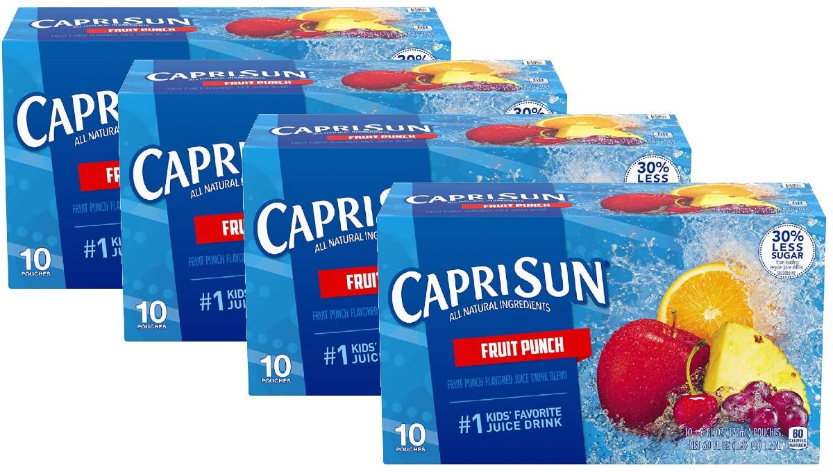 40 Jugos Capri Sun Fruit Punch SOLO $6.31 con Envío incluido