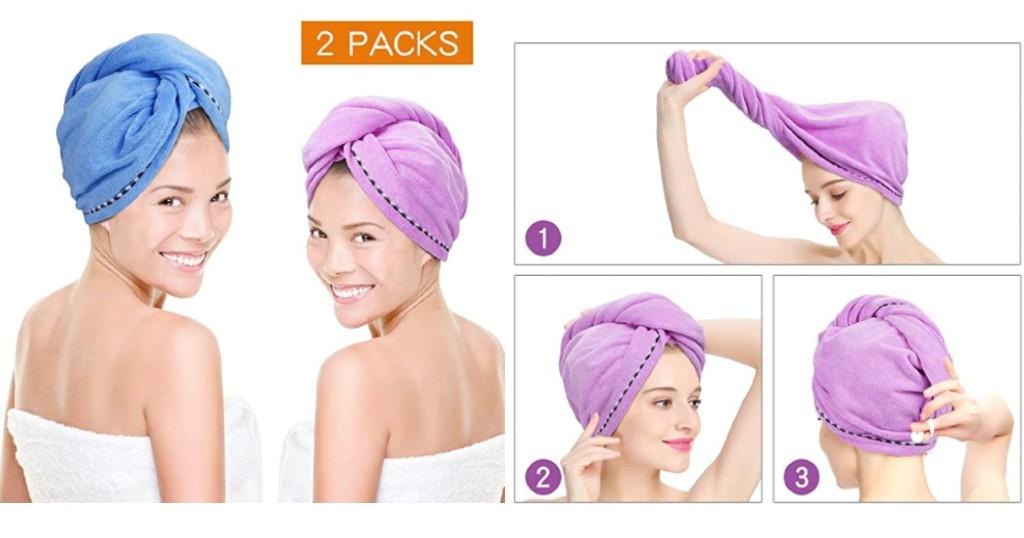 Microfiber Hair Towel Quick Magic Hair Dry a $9.98 (Reg. $15.58) y Envío Incluído