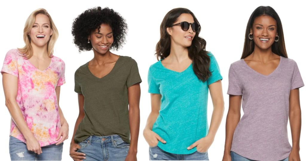Camisas SONOMA V Neck Tee a SOLO $4.99 (Reg. 13) en Kohl's