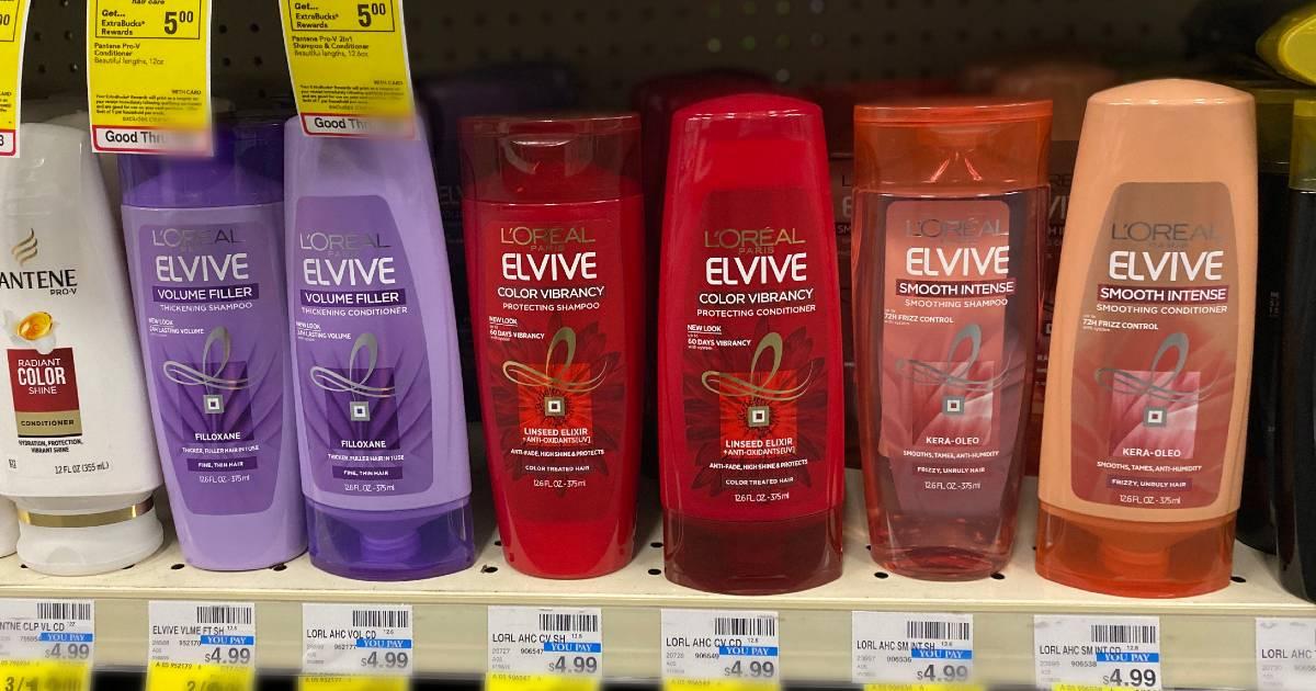L'Oreal Elvive Shampoo o Acondicionador a solo $1.50 en CVS