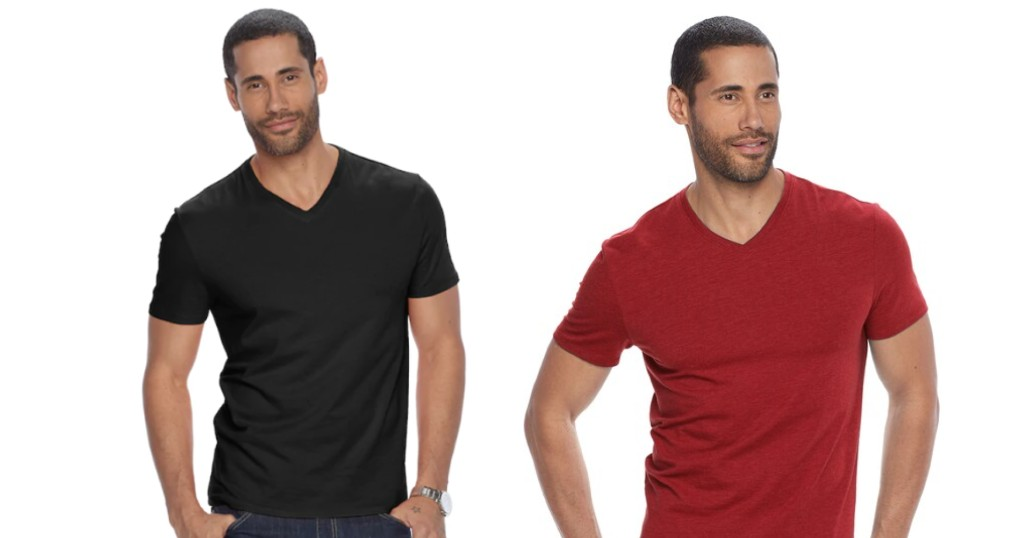 Camisas Apt 9 Solid V Neck a SOLO $7.99 (Reg. $15) en Kohls