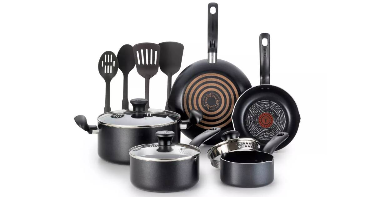 Set de Cocina T-Fal de 12-Piezas a solo $37.99 en Target (Reg. $60)