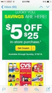 CVS Email Coupon