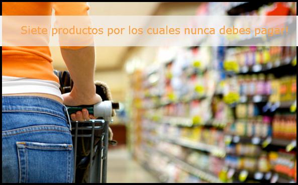 Promo2 Siete productos por los cuales nunca debes pagar!